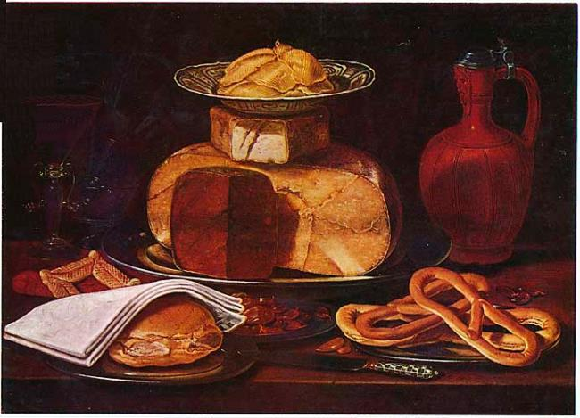 still life with pretzels