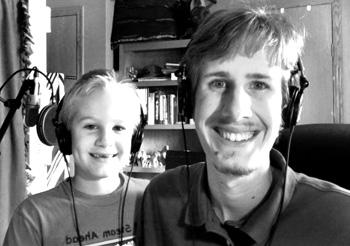 Ben and Caleb in Cave Studios