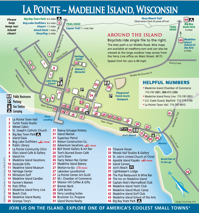 La Pointe, Madeline Island, Wisconsin