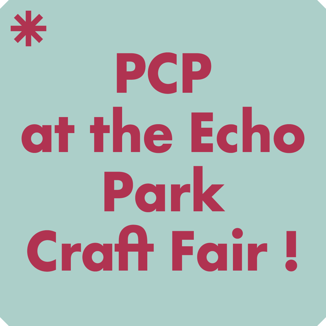 Paper Chase Press at the Echo Park Craft Fair.