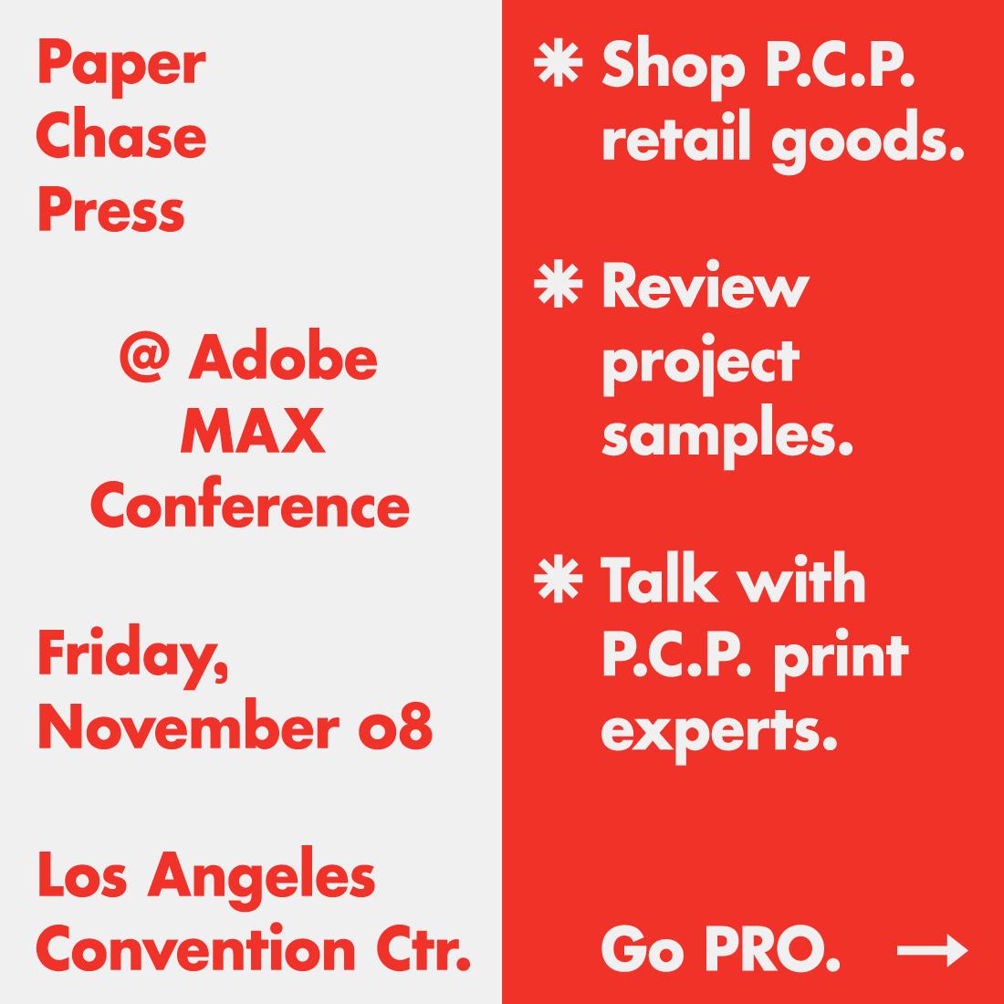 PCP at Adobe MAX.