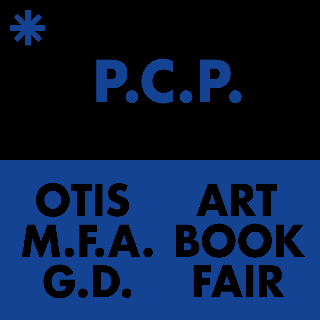 PCP at Otis MFAGD Art Book Fair.