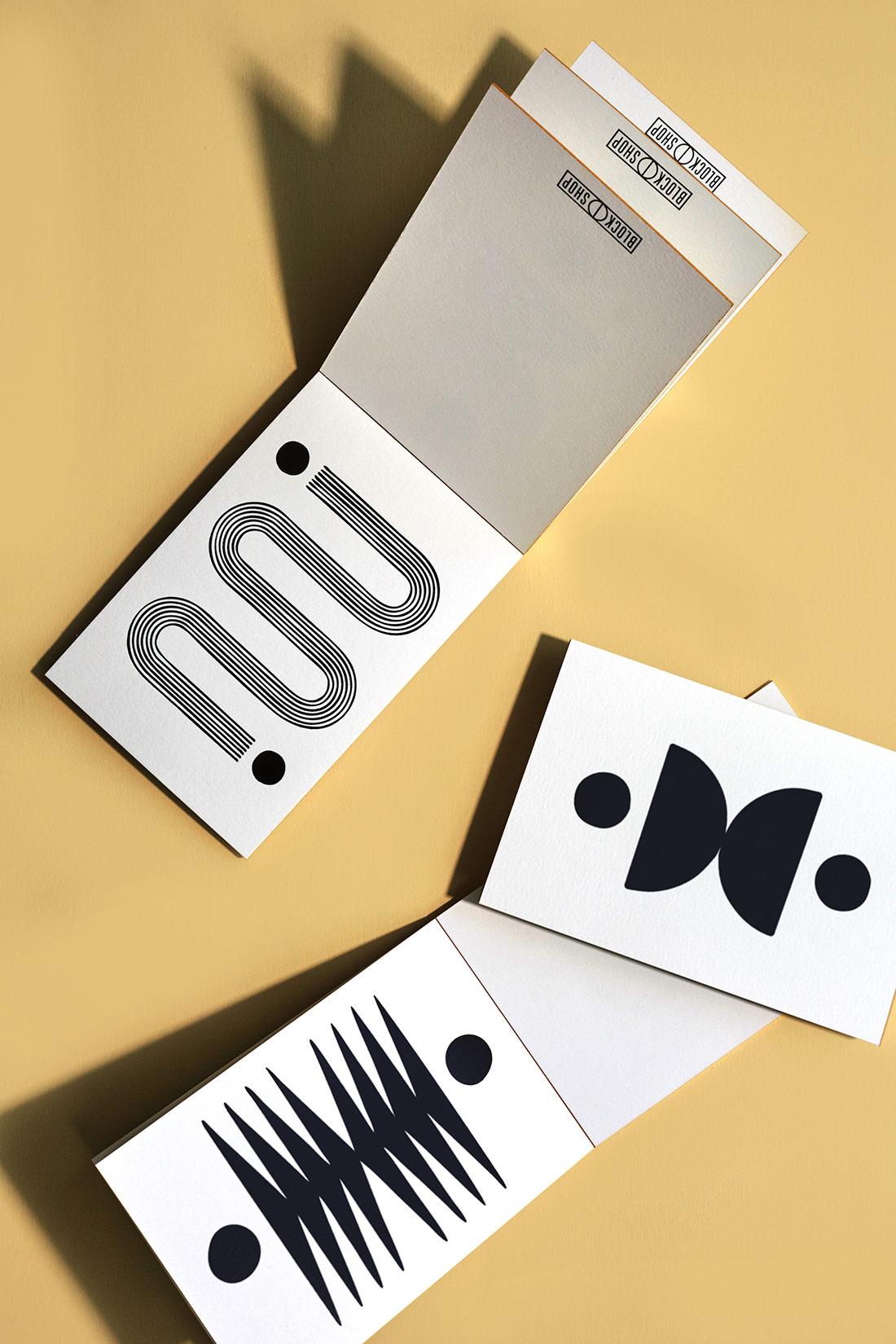 Block Shop Postcard Notepad Sets.