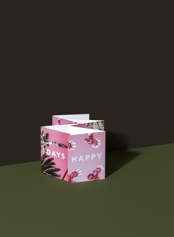HAPPY DAYS, Folded Cards.