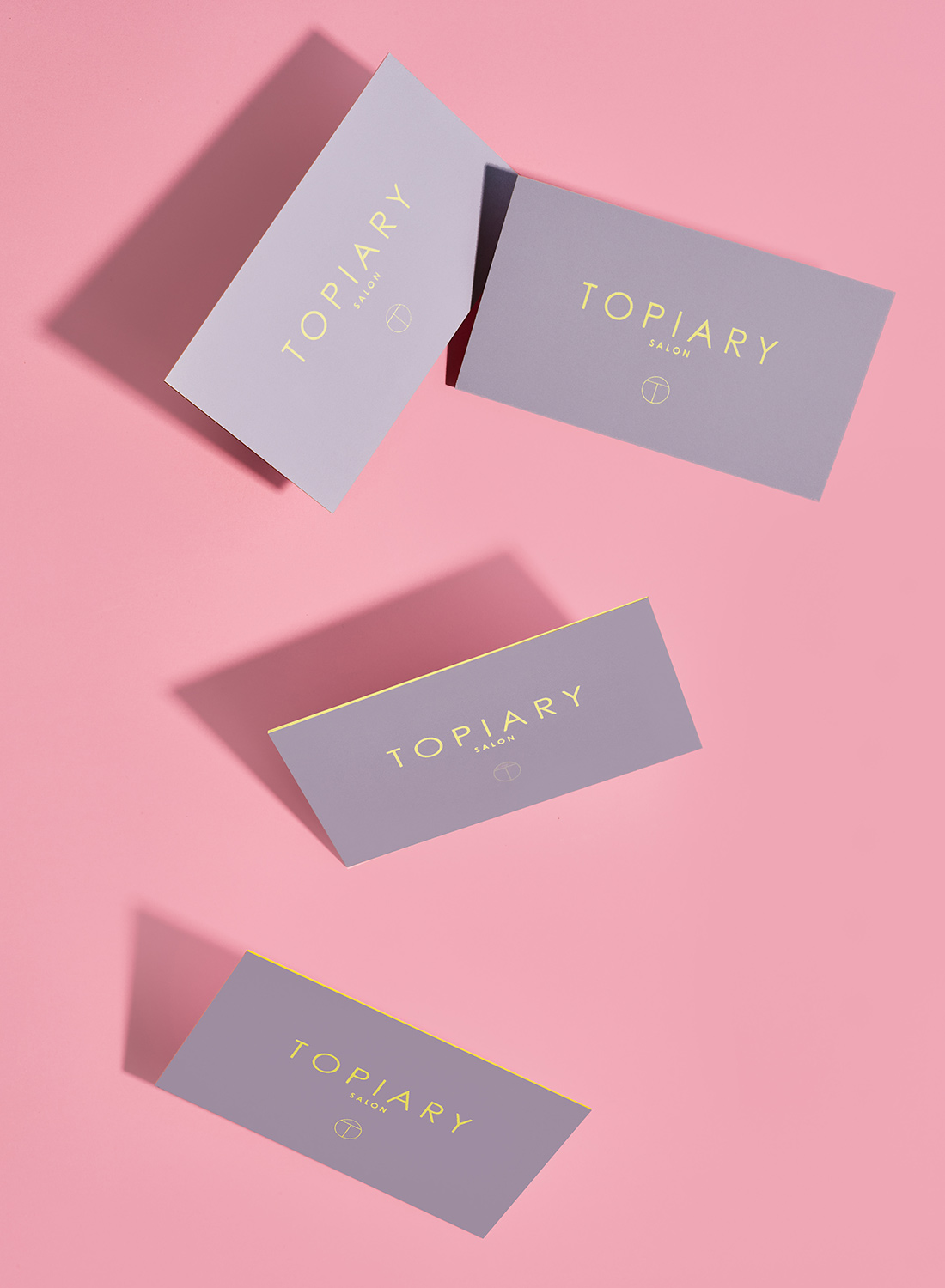 Topiary Salon business cards.