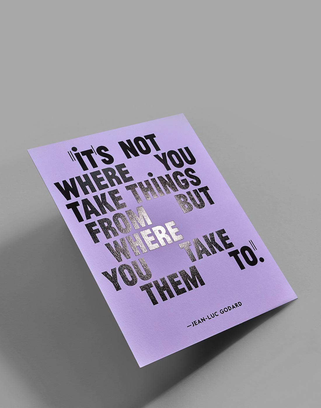 Jean-Luc Godard says ...