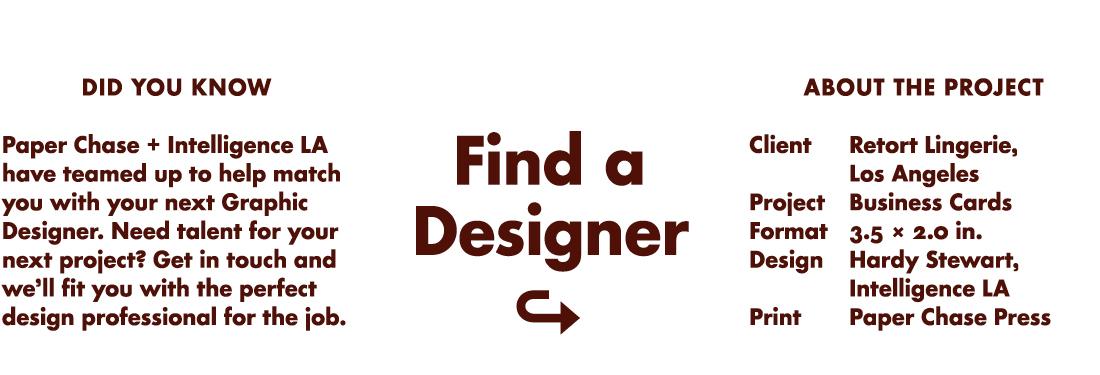 Find a Designer.