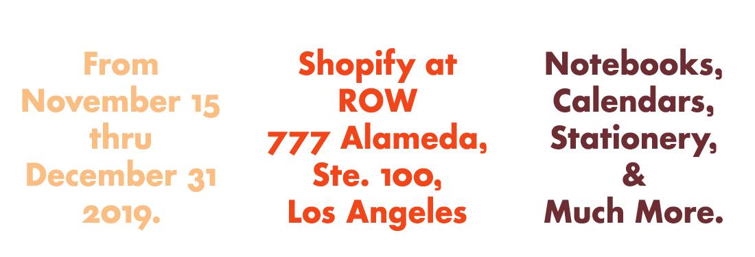 PCP at Shopify at ROW DTLA.