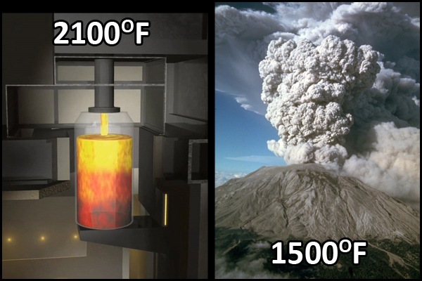 Hanford's waste will be heated to 2,100 degrees Fahrenheit during the vitrification process.