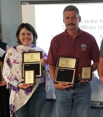 Jennifer Bean was honored as the Early Career Health Physicist of the Year, and Russ Lauber was voted Health Physicist of the Year at the annual CCHPS awards banquet this summer.