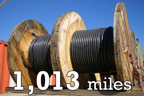 The Vit Plant requires 1,013 miles of cable.