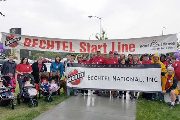 Vit Plant employees pose at Bechtel State Line at the 2016 March for Babies