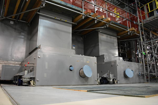 One of two 300-ton melters installed in the Low-Activity Waste Facility