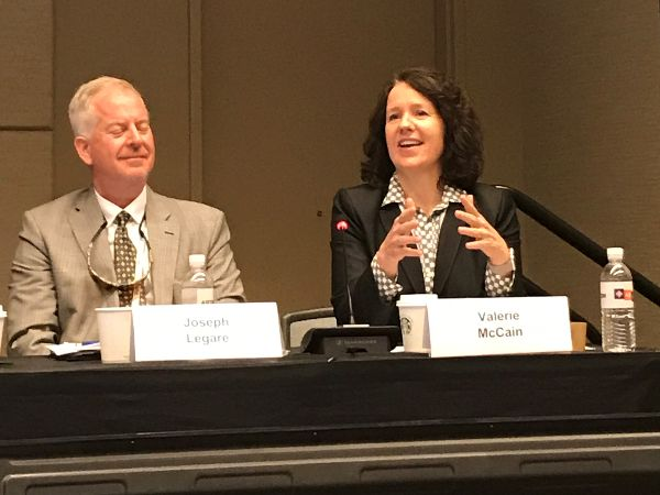 Project Director Valerie McCain speaks at the Waste Management Symposia