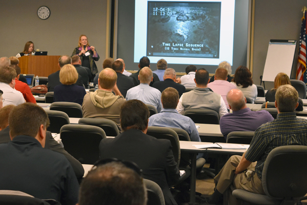 Project Director Peggy McCullough addresses more than 40 key suppliers and subcontractors.