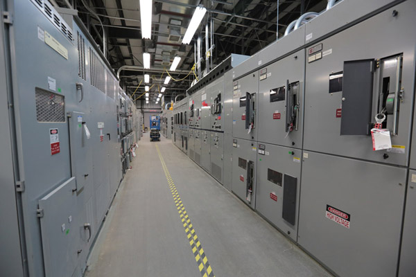 The Balance of Facilities' switchgear building, also known as Building 91, was energized in March. It provides electrical support to Balance of Facilities structures.