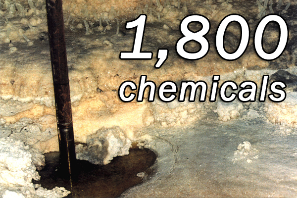 More than 1,800 chemicals have been identified in the tank waste.