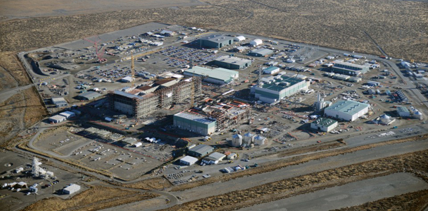 The Hanford Vit Plant construction site.