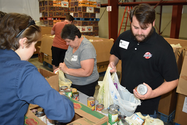 Vit Plant employees donated more than $40,000 and 1,000 pounds of food to Second Harvest