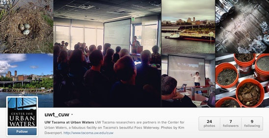 UW Tacoma at Urban Waters Instagram site