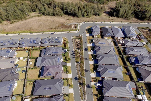 Aerial view of housing estate in Sydney's north west
