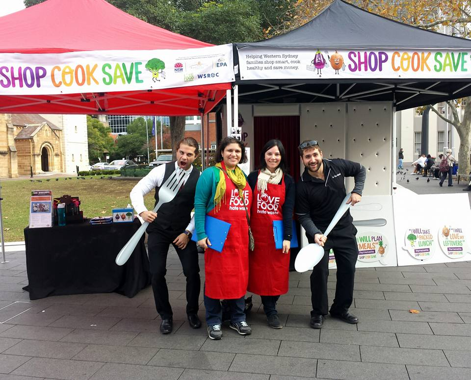 Shop.Cook.Save events team at Parramatta Markets in June, 2016.