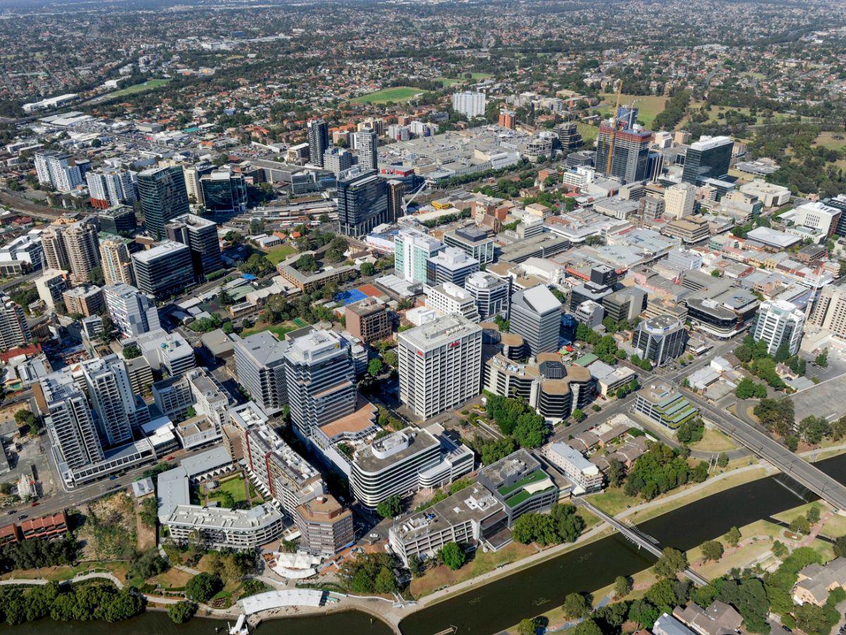 Parramatta aerial view