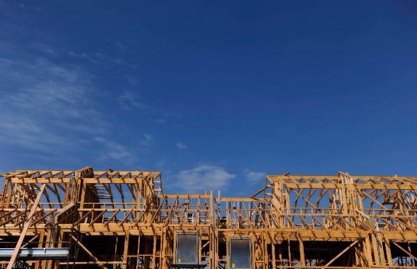 Timber frame for a new house in Western Sydney.