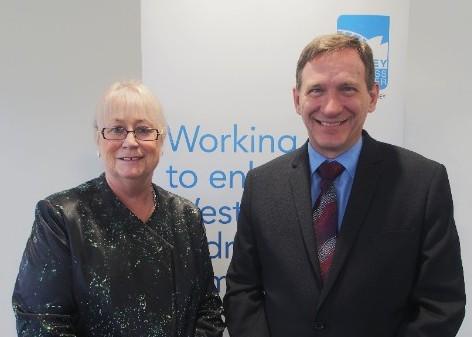 Destination NSW CEO, Sandra Chipchase with WSROC President Cr Stephen Bali