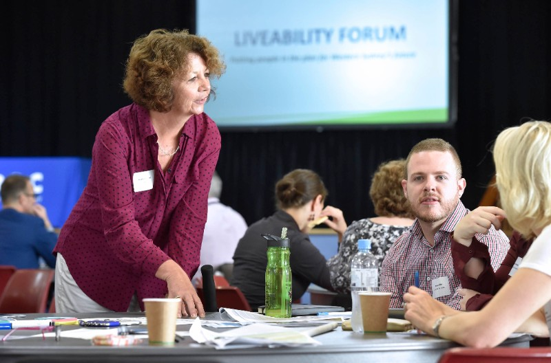 Social Commissioner Heather Nesbitt consulting with Western Sydney's community sector at Liveability Forum.