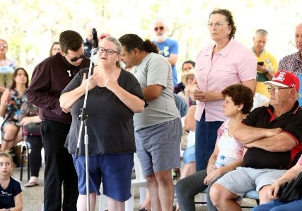 Residents line up to voice their opinion about an Energy from Waste Incinerator planned for Eastern Creek. Image: Blacktown City Council