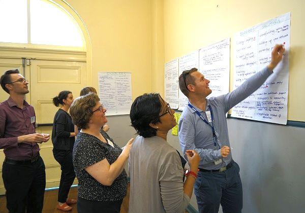 Western Sydney Citizen Science Forum participants completing a workshop task
