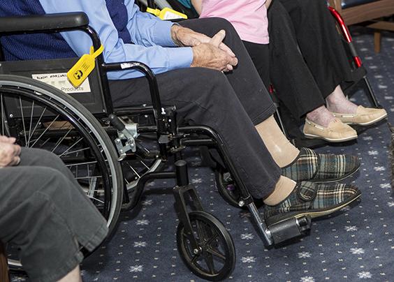 Elderly residents in nursing home.