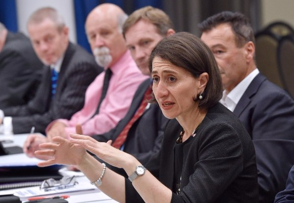 Premier of NSW, Gladys Berejiklian, holding a discussion with the WSROC Board of Directors.
