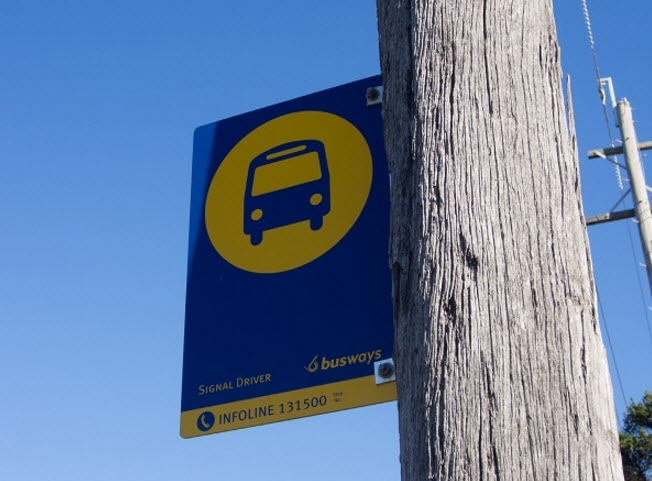Busways bus stop sign.