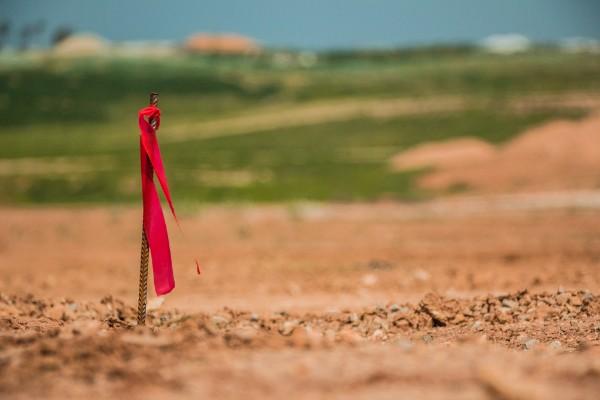 Surveyor's peg. Credit: iStock/wavemovies