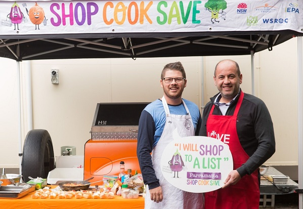 WSROC President and fromer Masterchef contestant Jay Huxley at Parramatta Shop Cook Save cooking demonstration.