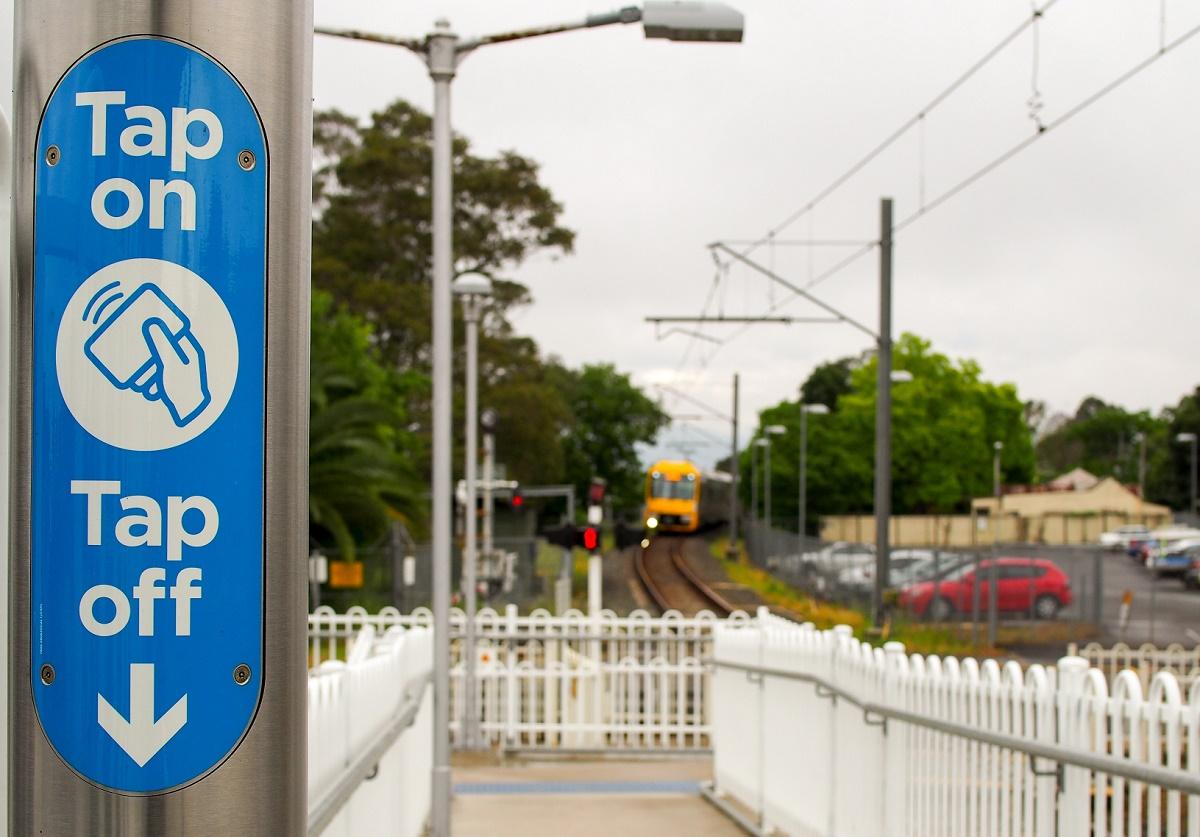 Train approaching East Richmond Station.