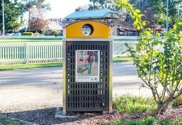 Recycling Bin at Richmond Park