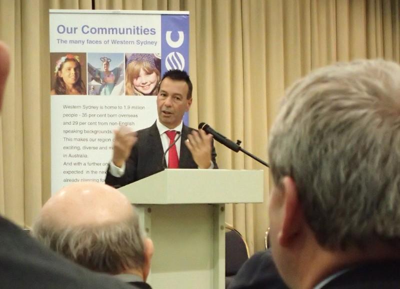 WSROC CEO, Charles Casuscelli speaking at Regional Transport Forum, Blacktown.