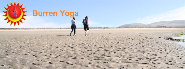 Walking on beach, chilling out on Burren Yoga retreat