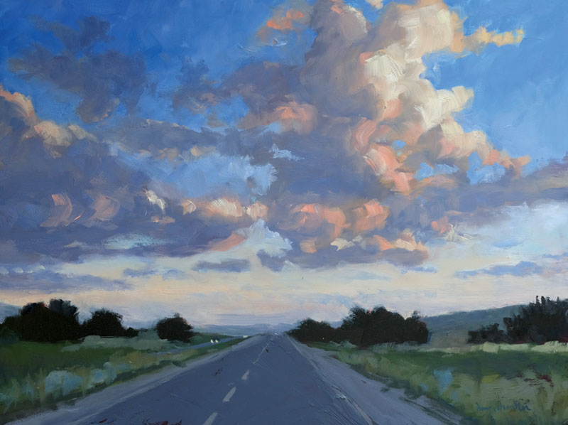 The Road to Santa Fe oil painting by artist Dawn Chandler