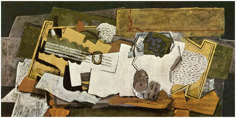Still Life with a Guitar by Georges Braque
