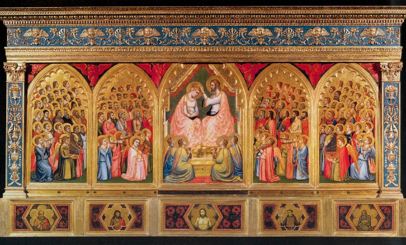 The Coronation of the Virgin, by Giotto