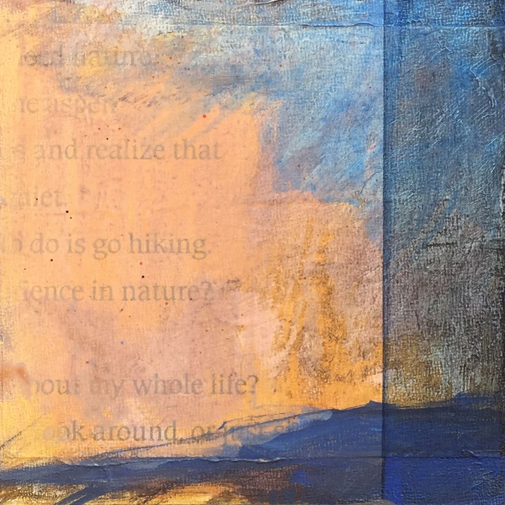 Look Around, mixed media painting by artist Dawn Chandler