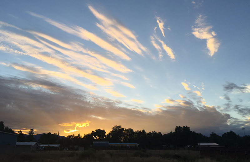 Santa Fe Sunrise, 2 August 2016 - photo by Dawn Chandler