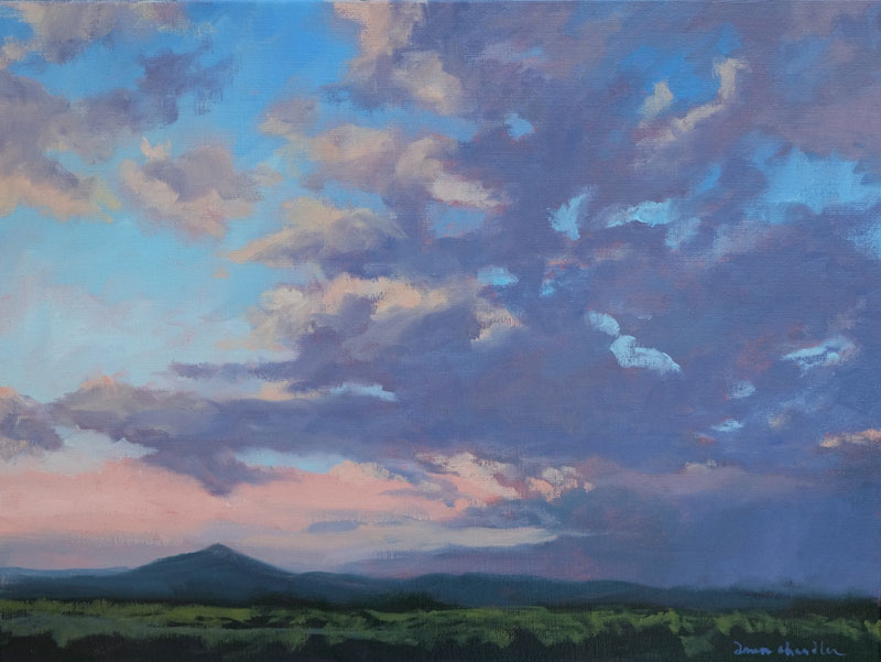 Evening Homecoming, oil painting on linen by artist Dawn Chandler