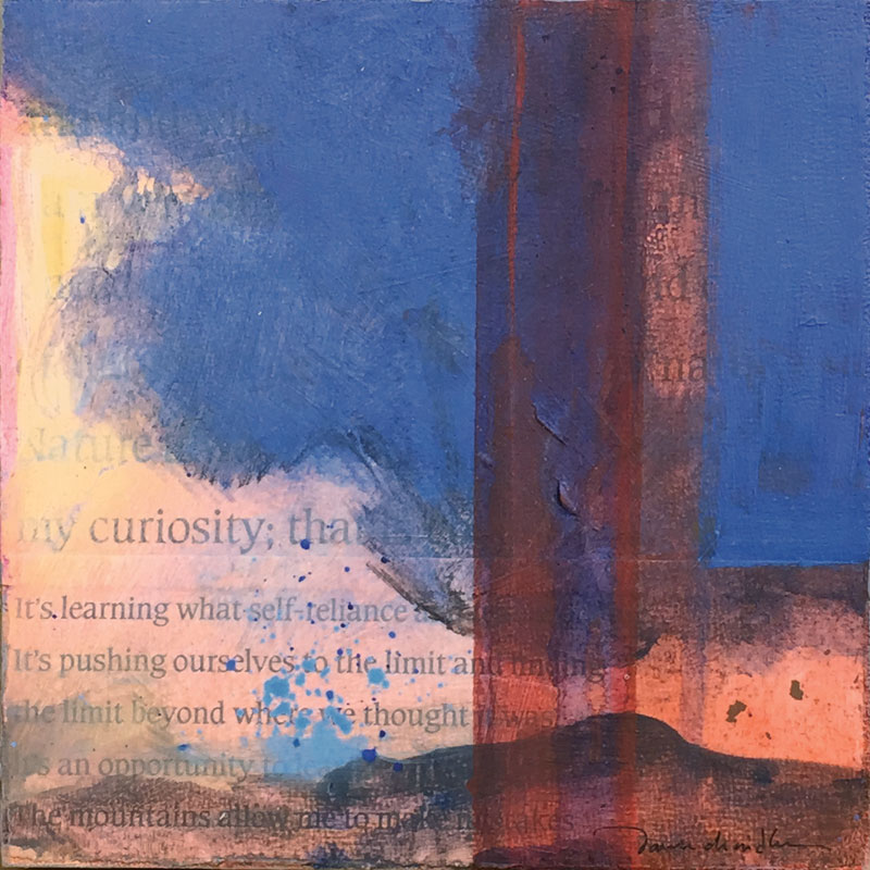 I Am My Curiosity, mixed media painting by artist Dawn Chandler