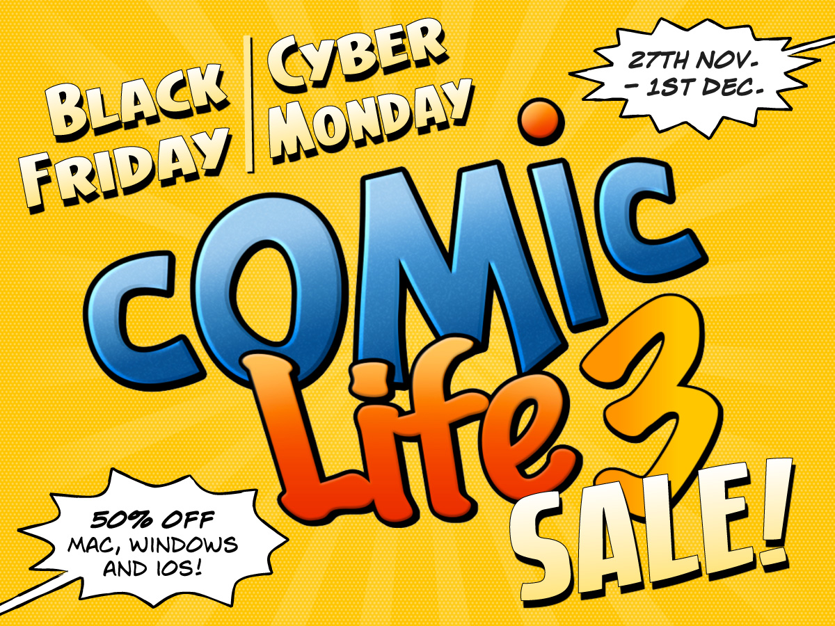 Comic Life 3 Black Friday and Cyber Monday Sale