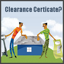 Clearance certificate, sale of property over 2 million
